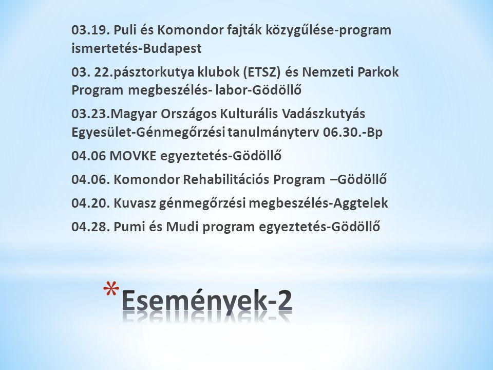 03.19. Puli és Komondor fajták közygűlése-program ismertetés-Budapest 03.