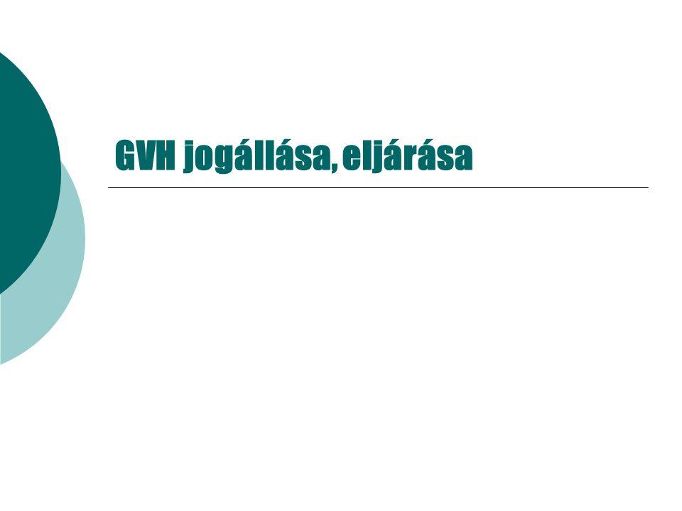 GVH jogállása, eljárása