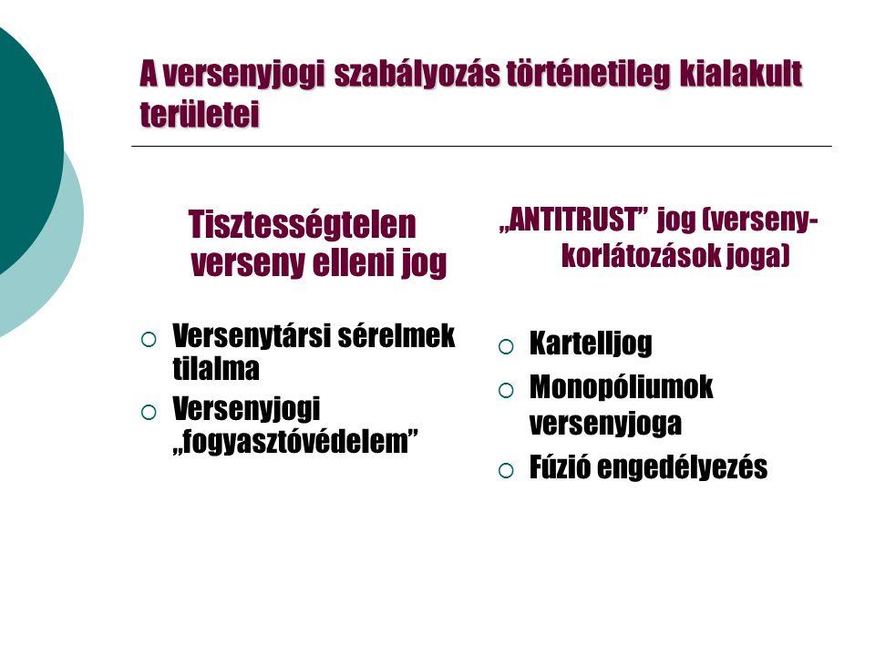 Fúziós küszöbérték  Tpvt (magyar fúziók): 15 Mrd/500 Mó  Előző évi Ntto átbevételre modellezve