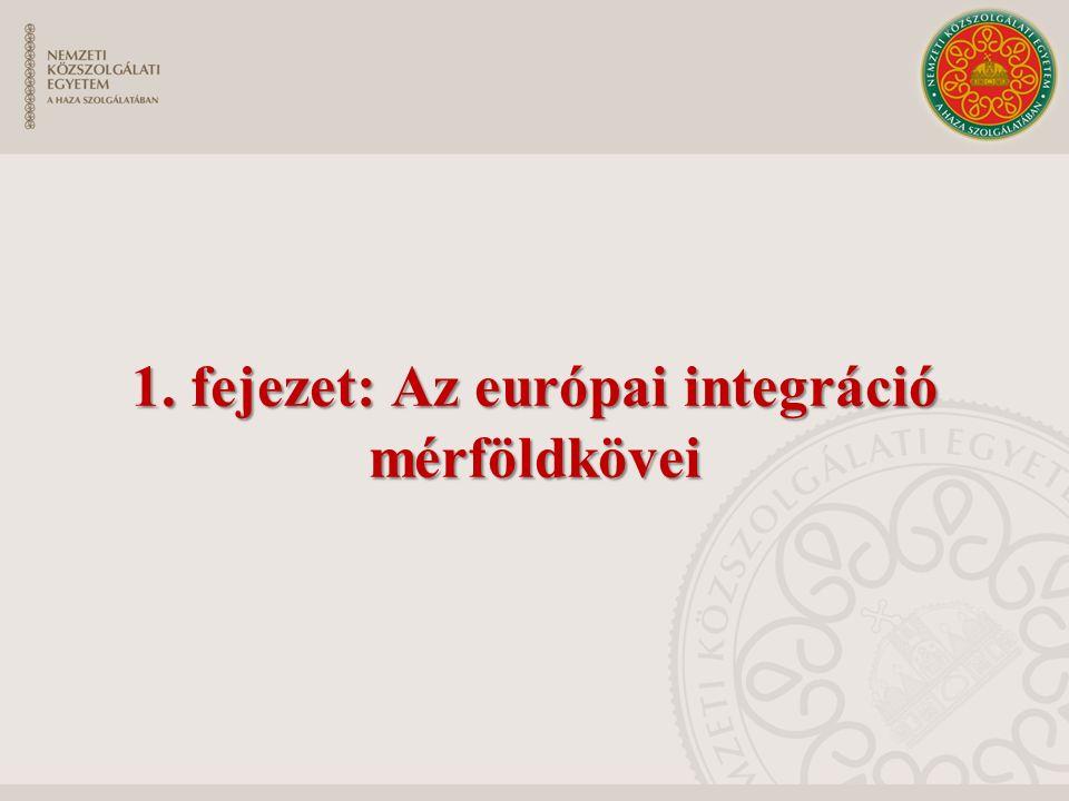 1. fejezet: Az európai integráció mérföldkövei