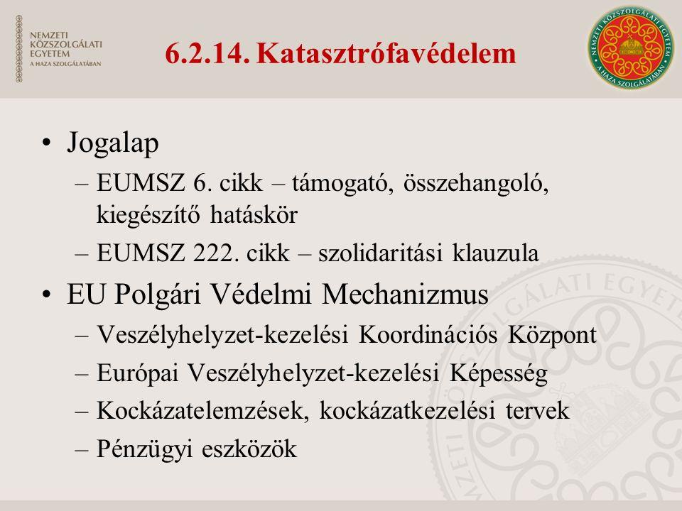 6.2.14. Katasztrófavédelem Jogalap –EUMSZ 6.