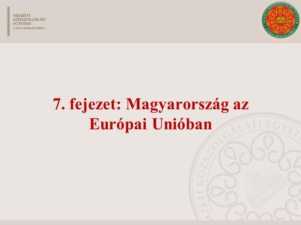 7. fejezet: Magyarország az Európai Unióban
