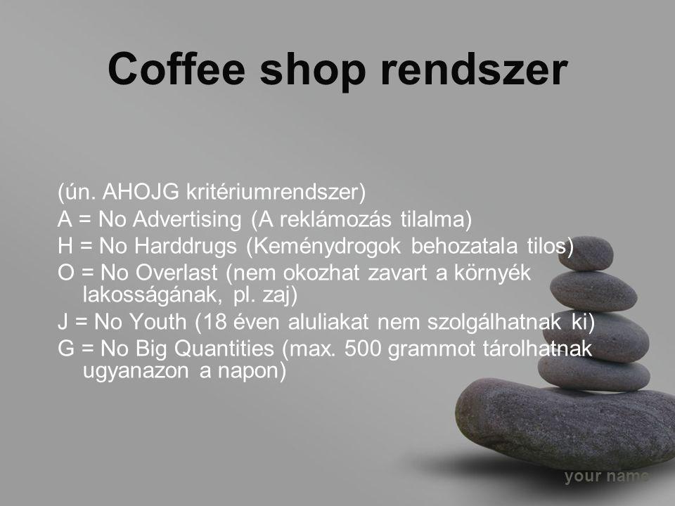 your name Coffee shop rendszer (ún.