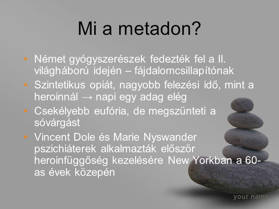 your name Mi a metadon. Német gyógyszerészek fedezték fel a II.
