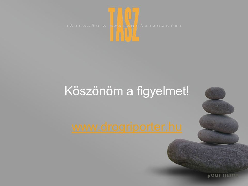 your name Köszönöm a figyelmet! www.drogriporter.hu