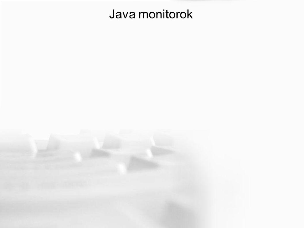 Java monitorok