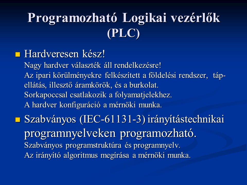 Programozható Logikai vezérlők (PLC) Hardveresen kész.