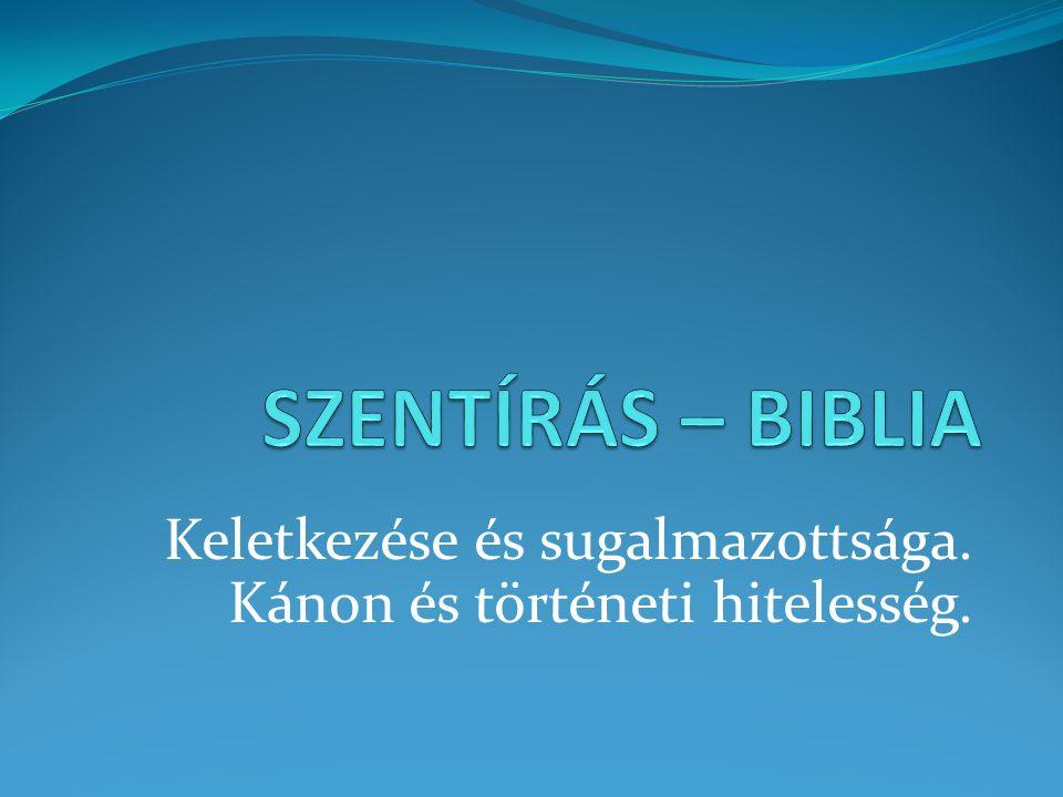 """A """"Biblia A Biblia egyfajta """"könyvgyűjtemény ."""