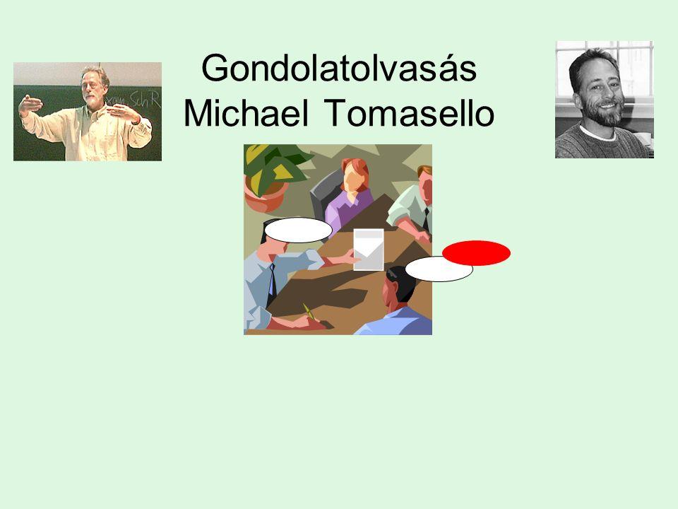 Gondolatolvasás Michael Tomasello