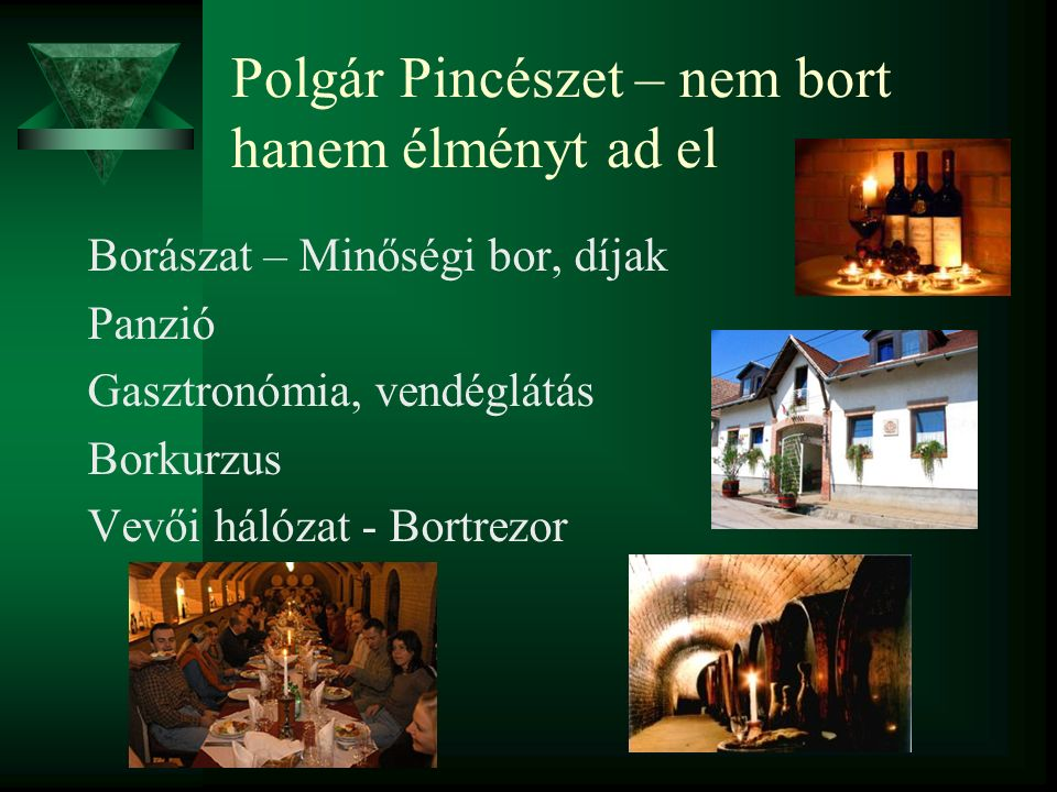 Polgár Pincészet – nem bort hanem élményt ad el Borászat – Minőségi bor, díjak Panzió Gasztronómia, vendéglátás Borkurzus Vevői hálózat - Bortrezor