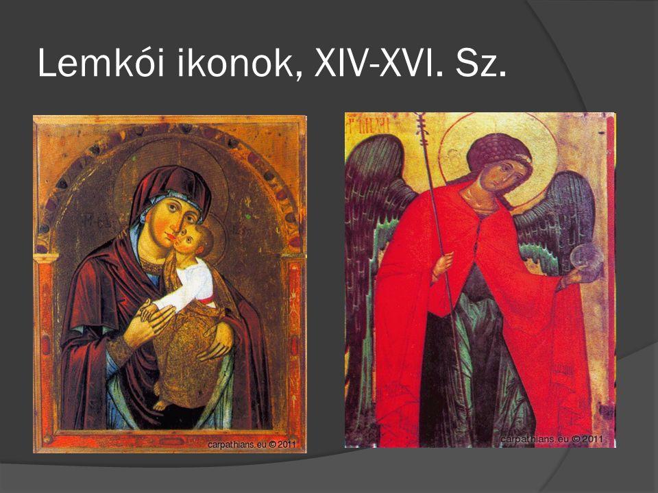 Lemkói ikonok, XIV-XVI. Sz.