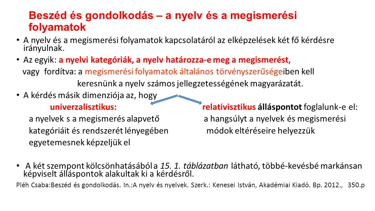 Ismert, hogy igen kevés kivételtől eltekintve a nyelvekben az alany megelőzi a tárgyat.