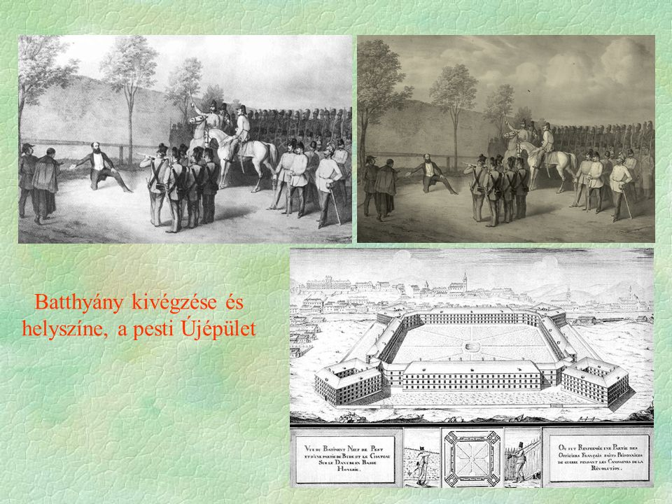 Batthyány kivégzése és helyszíne, a pesti Újépület