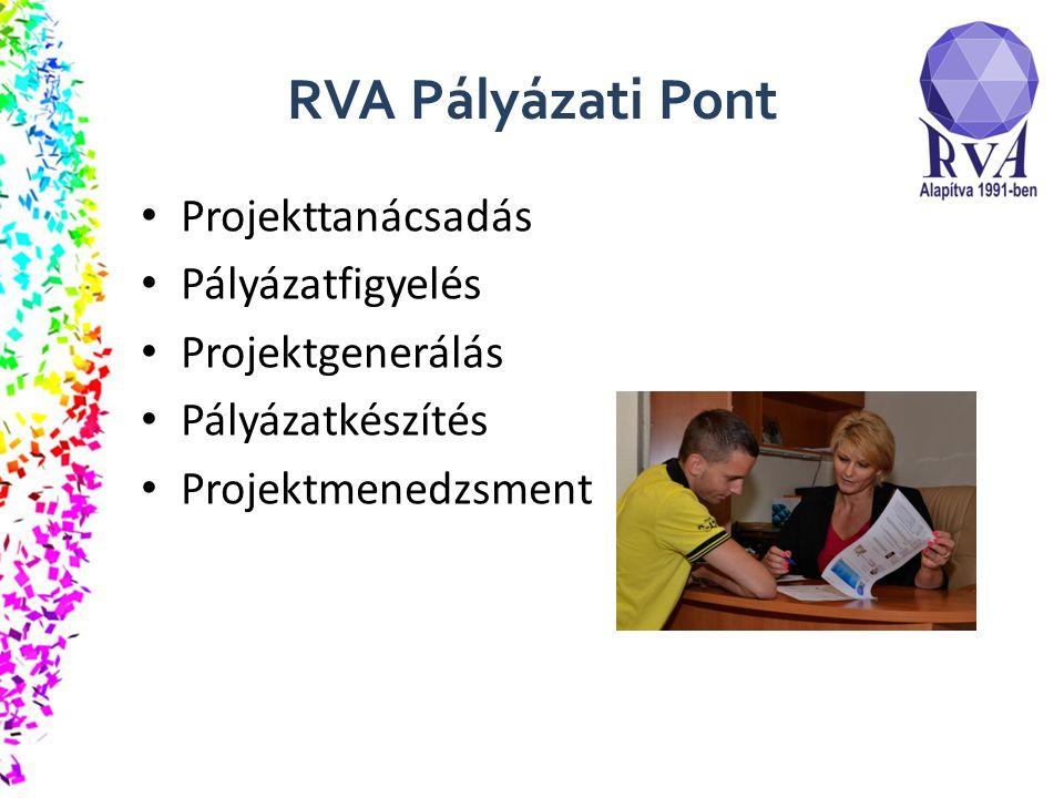 RVA Pályázati Pont Projekttanácsadás Pályázatfigyelés Projektgenerálás Pályázatkészítés Projektmenedzsment