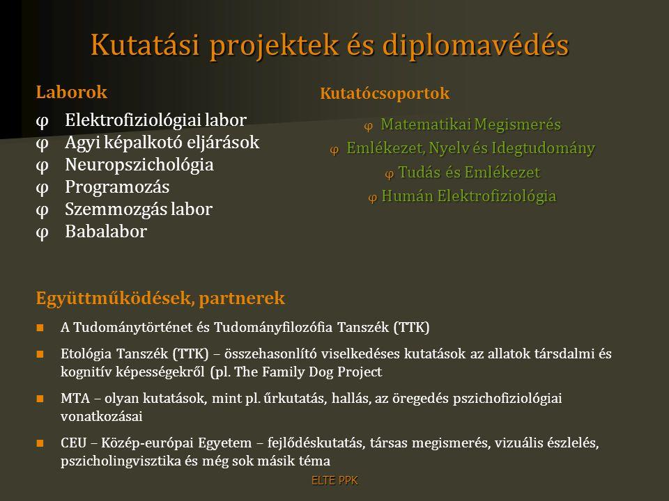 ELTE PPK Elhelyezkedési lehetőségek akadémiai körökben (pl.