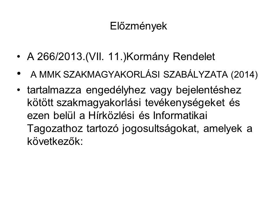 Előzmények A 266/2013.(VII.