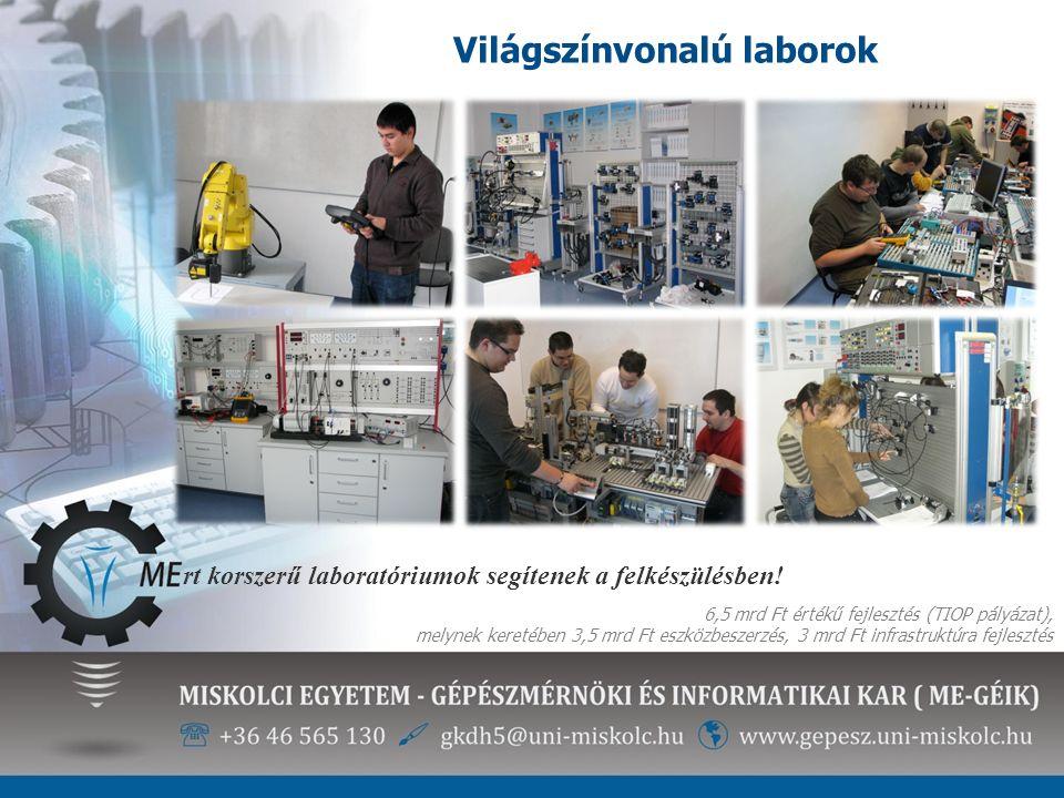 rt korszerű laboratóriumok segítenek a felkészülésben! 6,5 mrd Ft értékű fejlesztés (TIOP pályázat), melynek keretében 3,5 mrd Ft eszközbeszerzés, 3 m