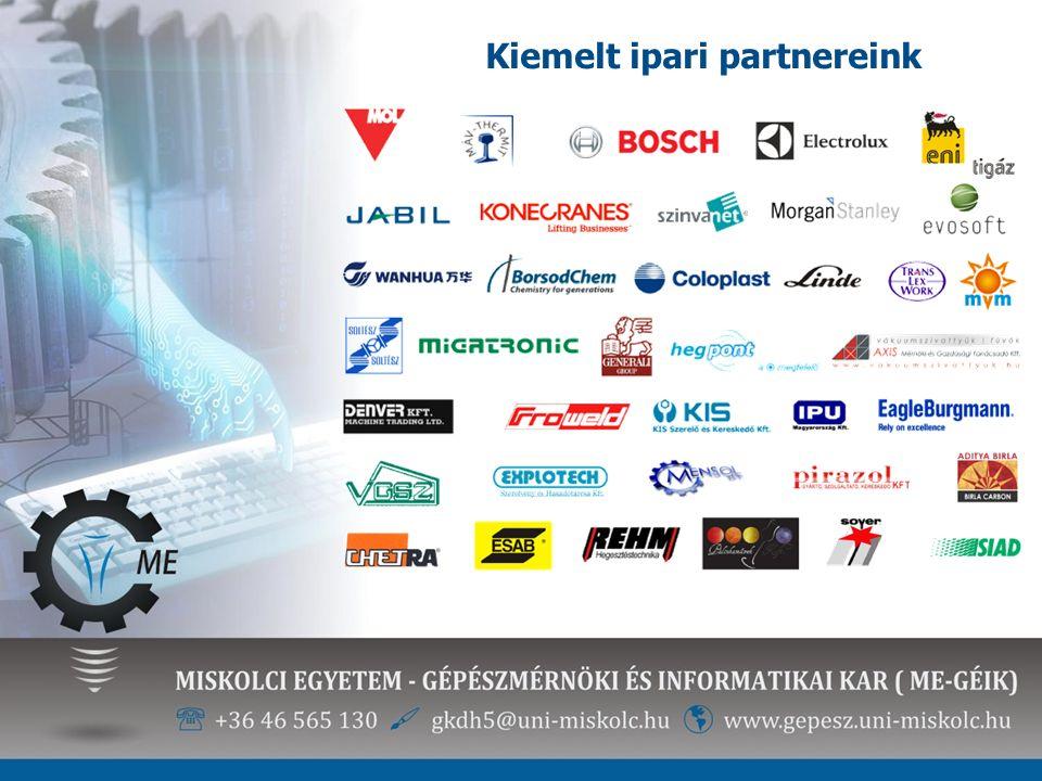Kiemelt ipari partnereink