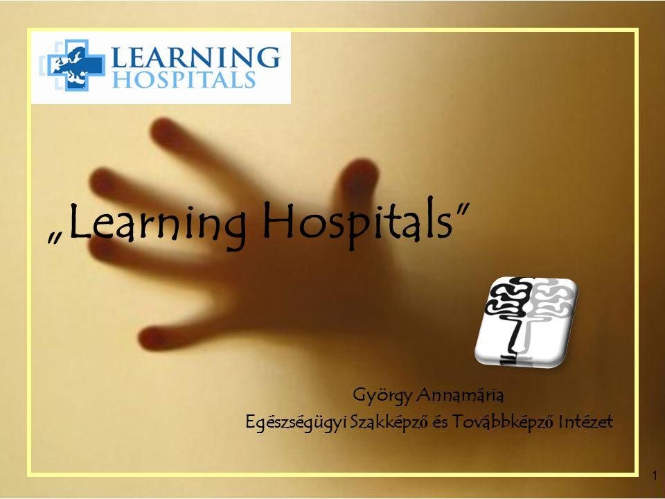 """""""Learning Hospitals"""" György Annamária Egészségügyi Szakképz ő és Továbbképz ő Intézet 1"""