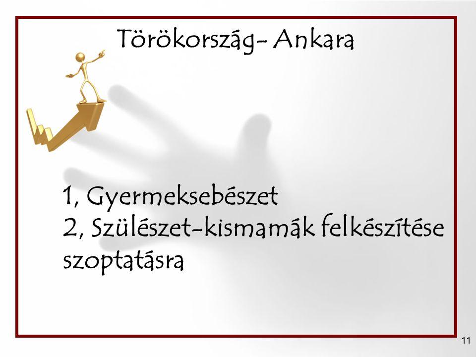 Törökország- Ankara 11 1, Gyermeksebészet 2, Szülészet-kismamák felkészítése szoptatásra