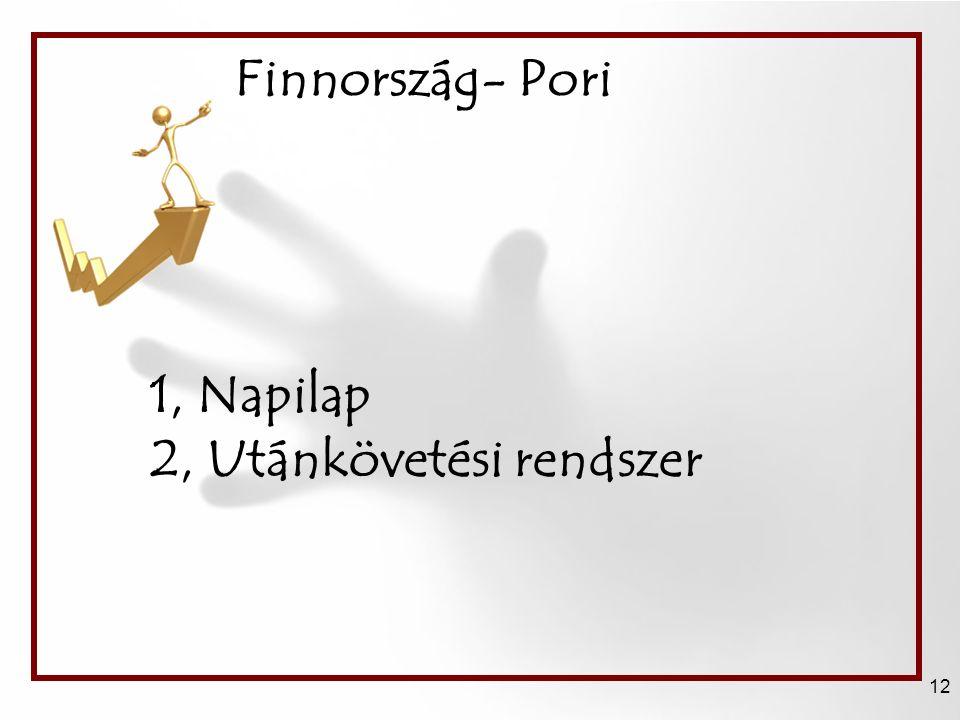 Finnország- Pori 12 1, Napilap 2, Utánkövetési rendszer