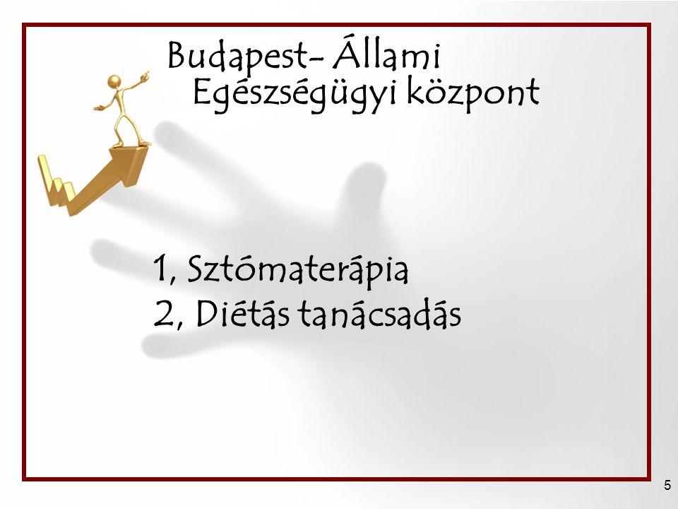 Budapest- Állami Egészségügyi központ 5 1, Sztómaterápia 2, Diétás tanácsadás