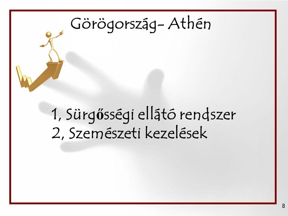 Görögország- Athén 8 1, Sürg ő sségi ellátó rendszer 2, Szemészeti kezelések