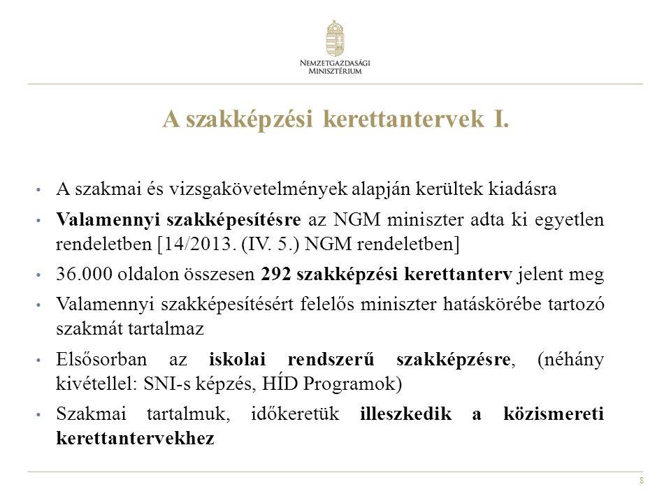 9 A szakképzési kerettantervek II.