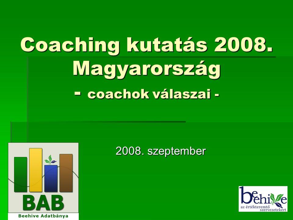1 Coaching kutatás 2008. Magyarország - coachok válaszai - 2008. szeptember