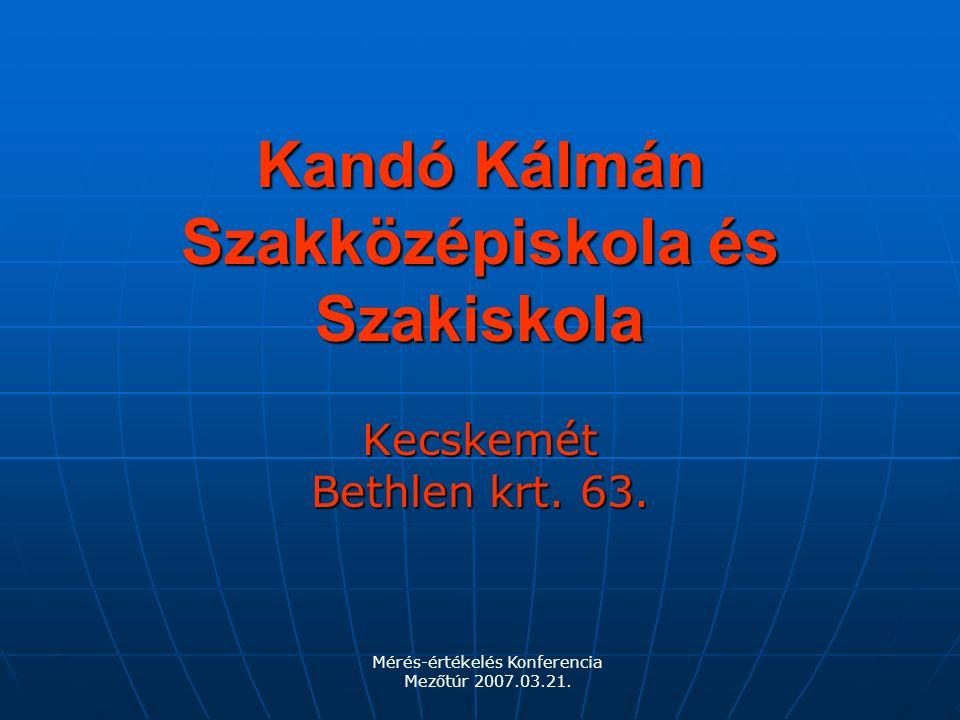 Kandó Kálmán Szakközépiskola és Szakiskola Kecskemét Bethlen krt.