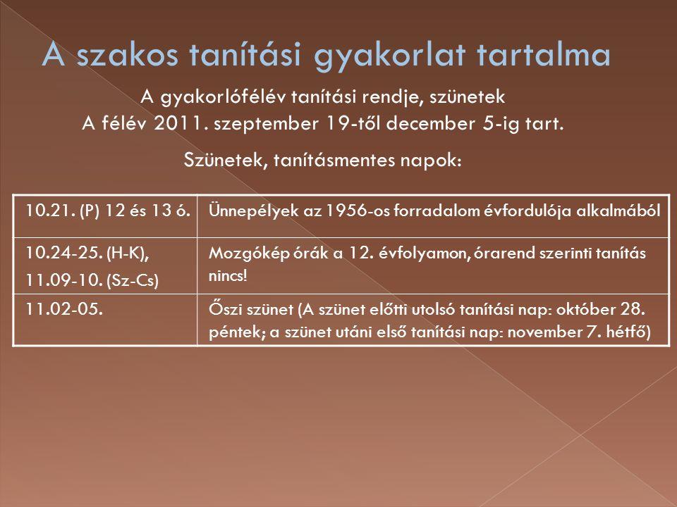 10.21. (P) 12 és 13 ó.Ünnepélyek az 1956-os forradalom évfordulója alkalmából 10.24-25.