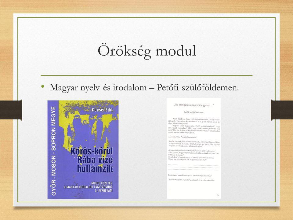 Örökség modul Magyar nyelv és irodalom – Petőfi szülőföldemen.