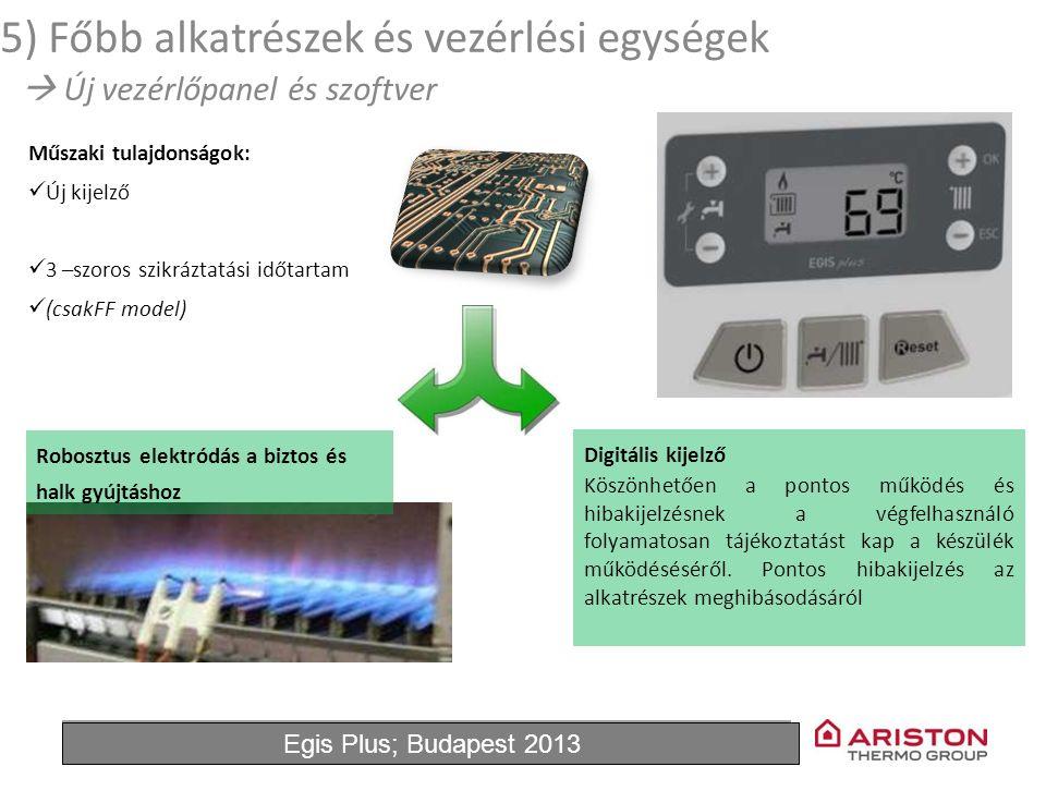 June'11Egis Plus 10 Műszaki tulajdonságok: Új kijelző 3 –szoros szikráztatási időtartam (csakFF model) Robosztus elektródás a biztos és halk gyújtásho