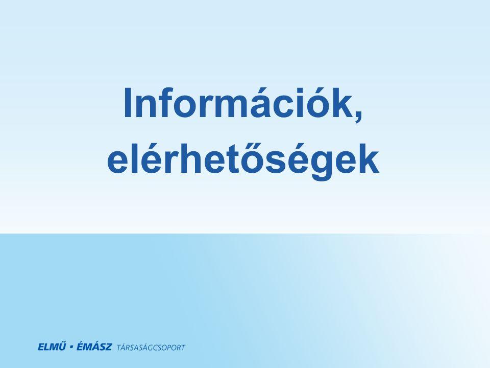 Információk, elérhetőségek