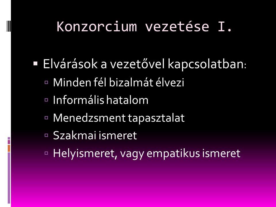 Konzorcium vezetése I.