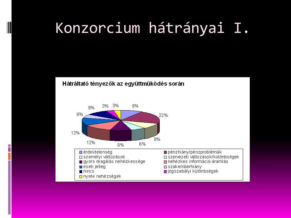 Konzorcium hátrányai I.