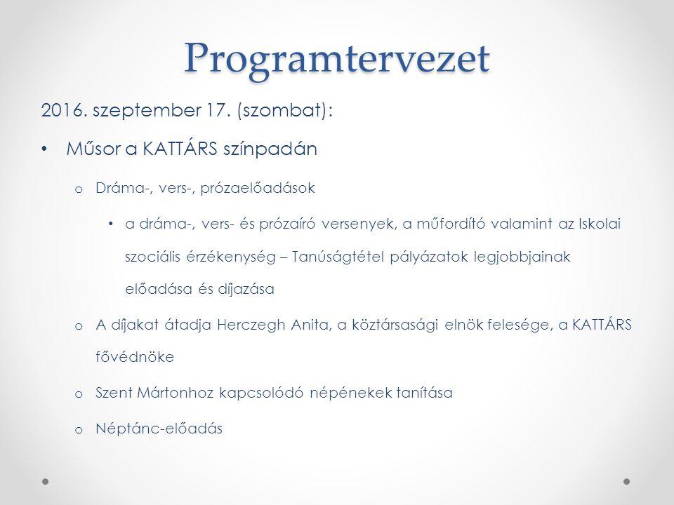 Programtervezet 2016. szeptember 17.