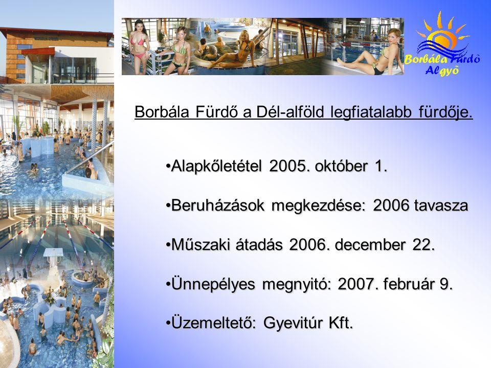 Jelenleg a beruházás első üteme készült el, külső támogatás, pályázat felhasználása nélkül.