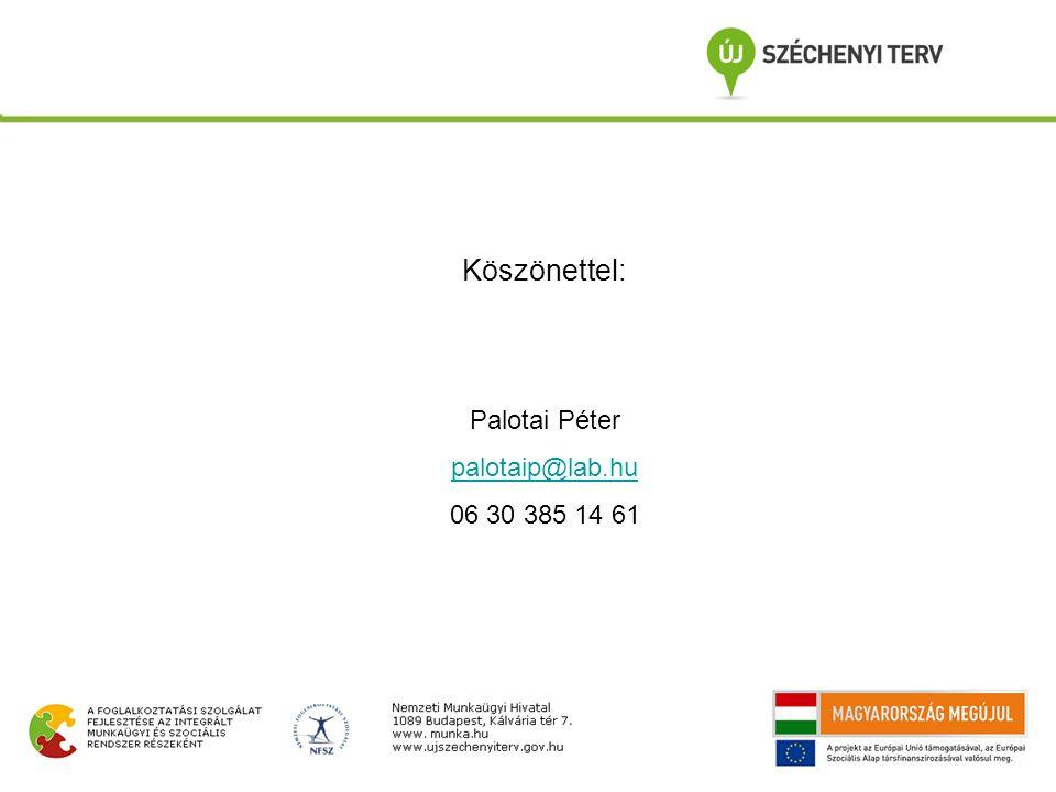 Köszönettel: Palotai Péter palotaip@lab.hu 06 30 385 14 61