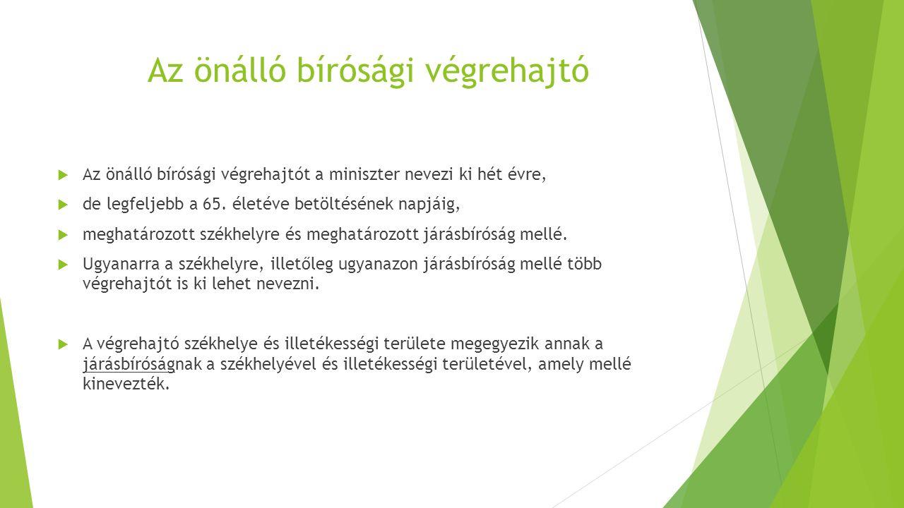 Ki lehet önálló bírósági végrehajtó. Magyar állampolgár  24.