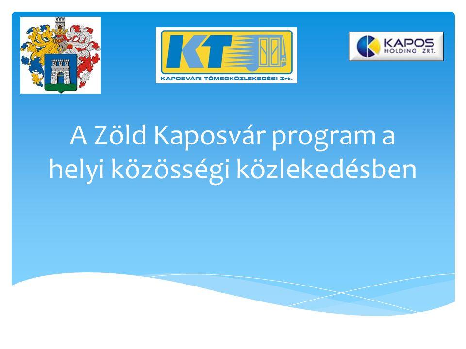 A Zöld Kaposvár program a helyi közösségi közlekedésben