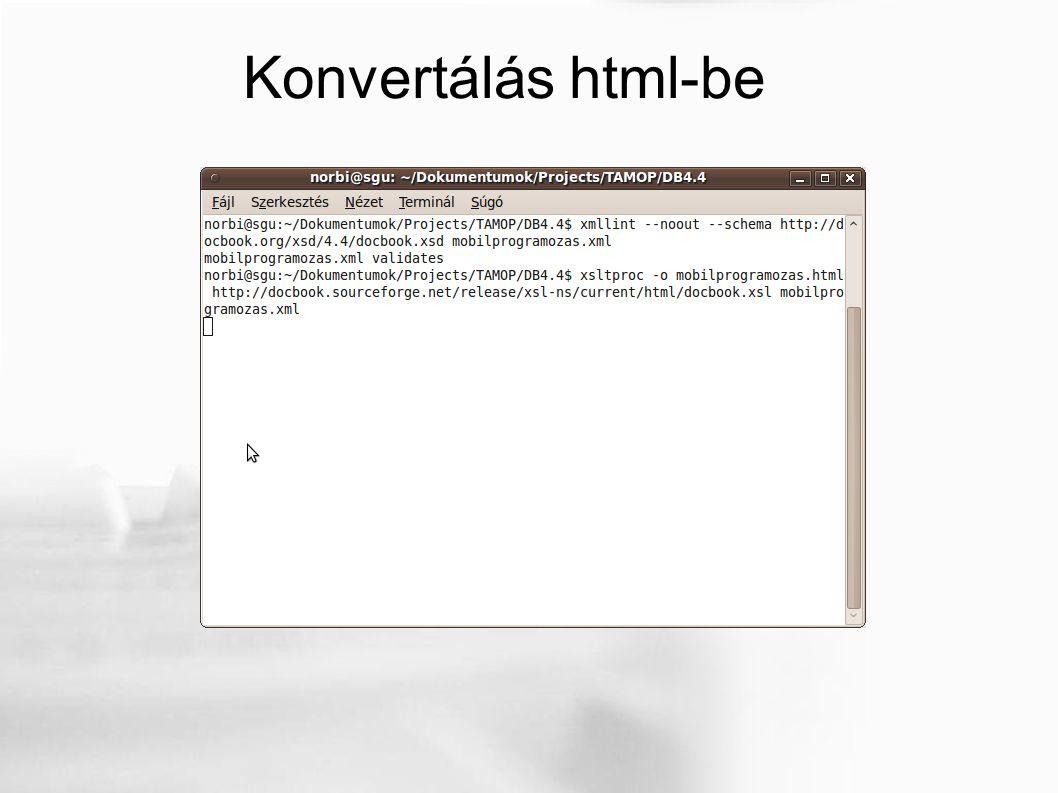 Konvertálás html-be
