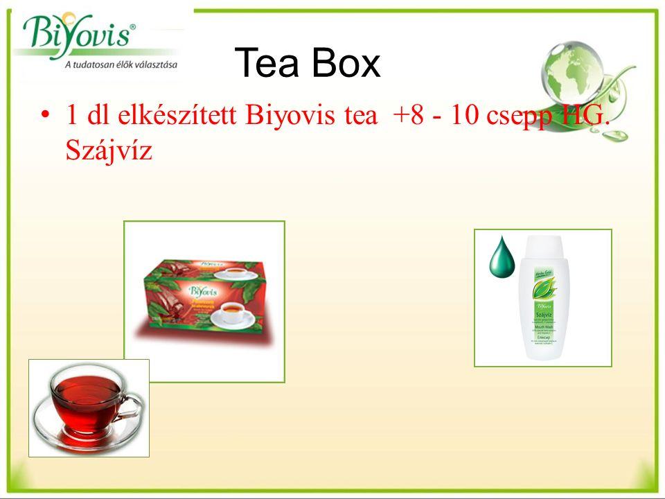 Tea Box 1 dl elkészített Biyovis tea +8 - 10 csepp HG. Szájvíz