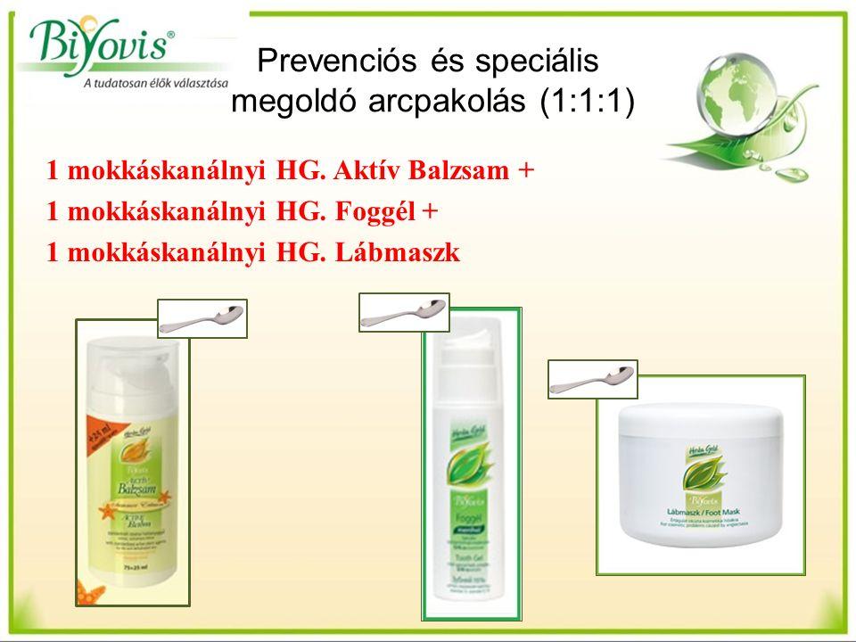 Prevenciós és speciális megoldó arcpakolás (1:1:1) 1 mokkáskanálnyi HG.