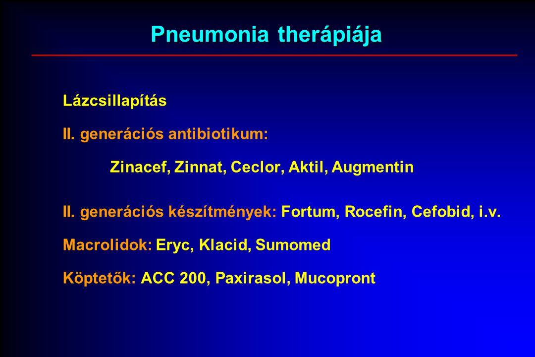 Pneumonia therápiája Lázcsillapítás II.