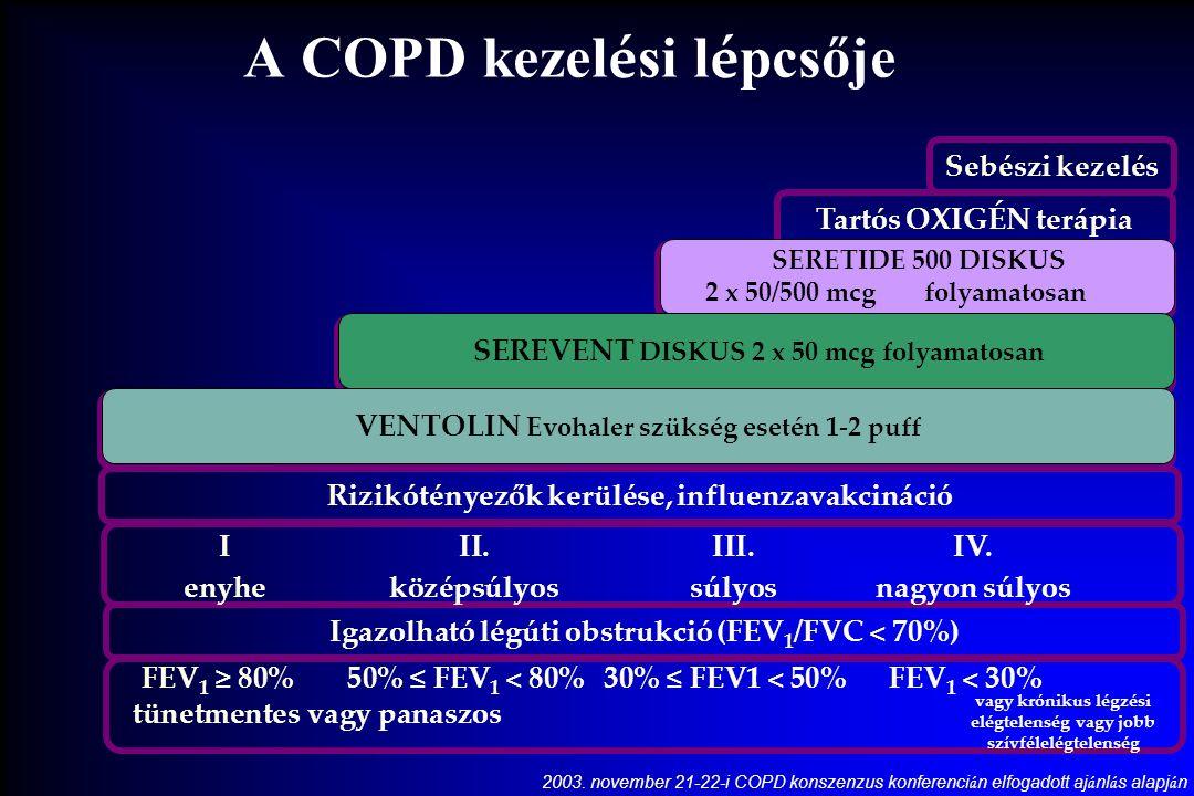 A COPD kezel é si l é pcsője 2003.