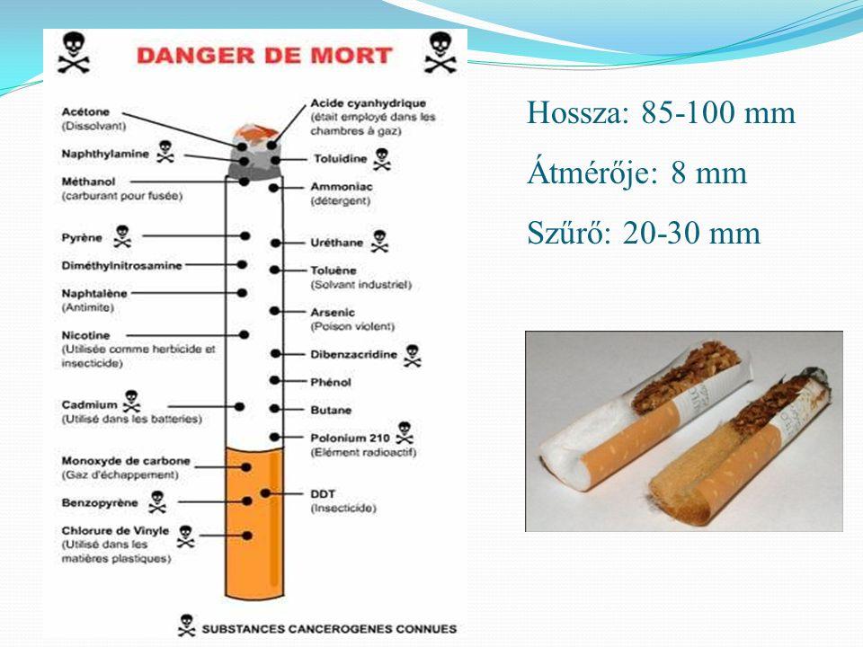Szűrős cigaretták – a dohányzók leckéje Műkődési: elv A VALÓSÁGBAN: a dohányzó akaratkanul eltakarja a lyukakat (ujjhegyek, ajkak), így a füstbe nem jut annyi levegő.