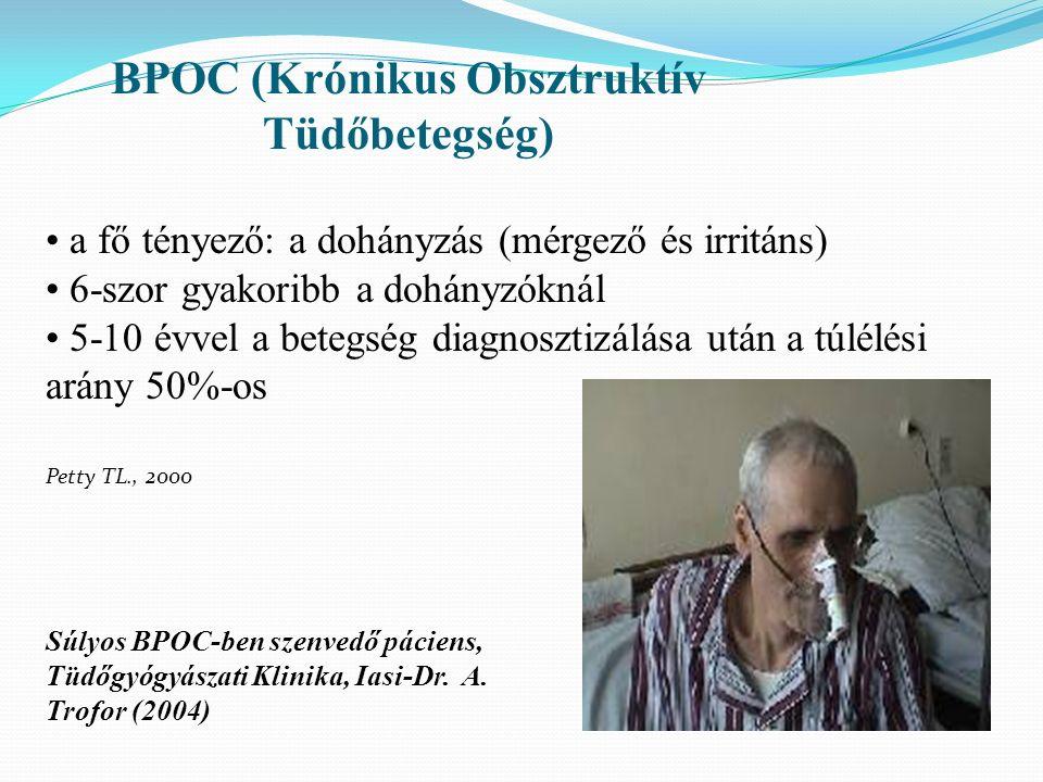 Súlyos BPOC-ben szenvedő páciens, Tüdőgyógyászati Klinika, Iasi-Dr.