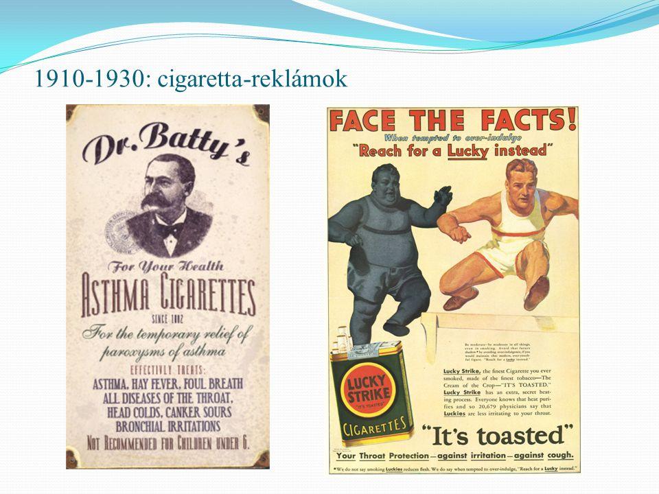 1910-1930: cigaretta-reklámok