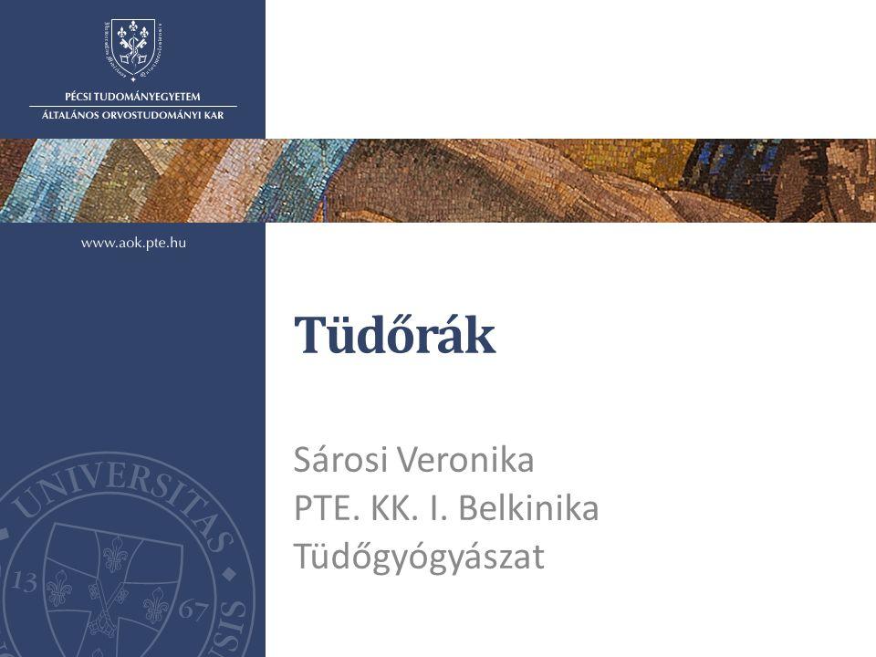 Tüdőrák Sárosi Veronika PTE. KK. I. Belkinika Tüdőgyógyászat